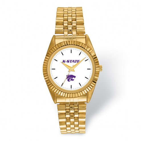 Kansas State Wildcats Pro Gold Tone Gents Watch