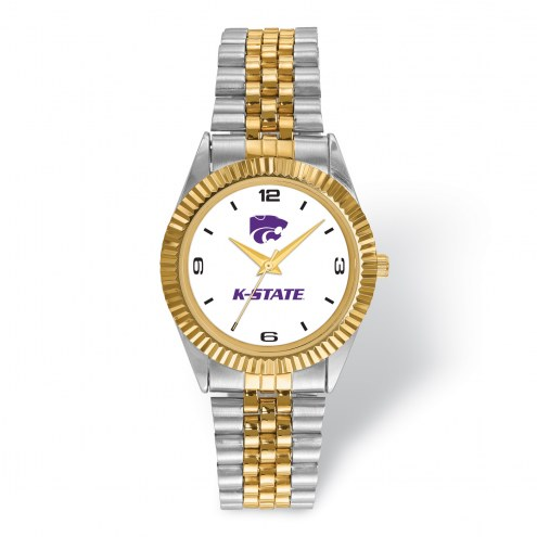 Kansas State Wildcats Pro Two-Tone Gents Watch