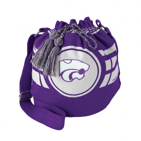 Kansas State Wildcats Ripple Drawstring Bucket Bag
