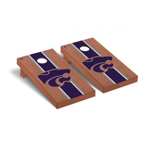 Kansas State Wildcats Rosewood Stained Cornhole Game Set