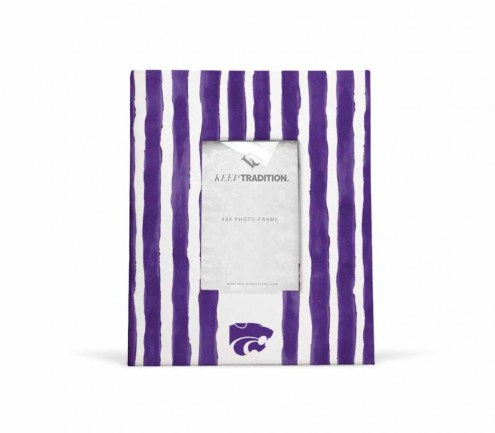 Kansas State Wildcats School Stripes Picture Frame