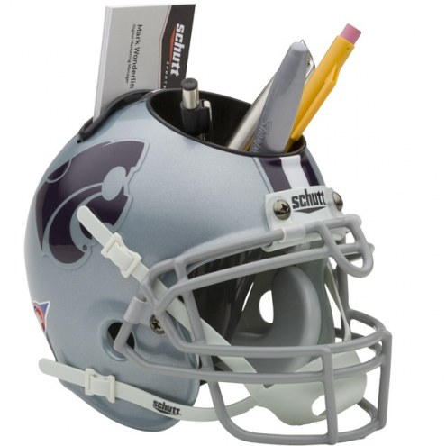 Kansas State Wildcats Schutt Football Helmet Desk Caddy
