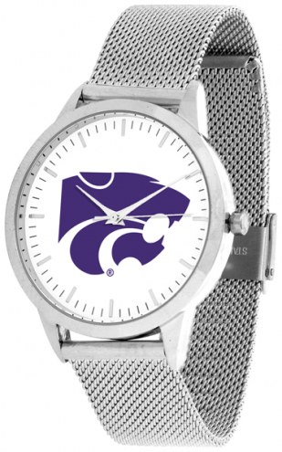 Kansas State Wildcats Silver Mesh Statement Watch