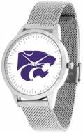 Kansas State Wildcats Silver Mesh Statement Watch