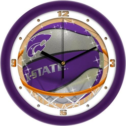 Kansas State Wildcats Slam Dunk Wall Clock