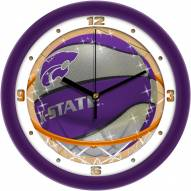 Kansas State Wildcats Slam Dunk Wall Clock