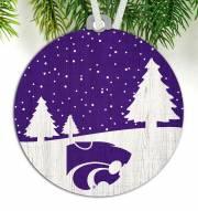 Kansas State Wildcats Snow Scene Ornament
