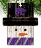 Kansas State Wildcats Snowman Ornament