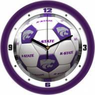 Kansas State Wildcats Soccer Wall Clock
