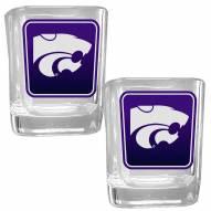 Kansas State Wildcats Square Glass Shot Glass Set