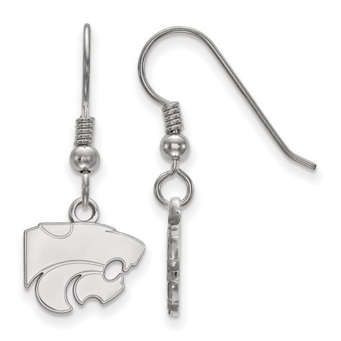 Kansas State Wildcats Sterling Silver Extra Small Dangle Earrings