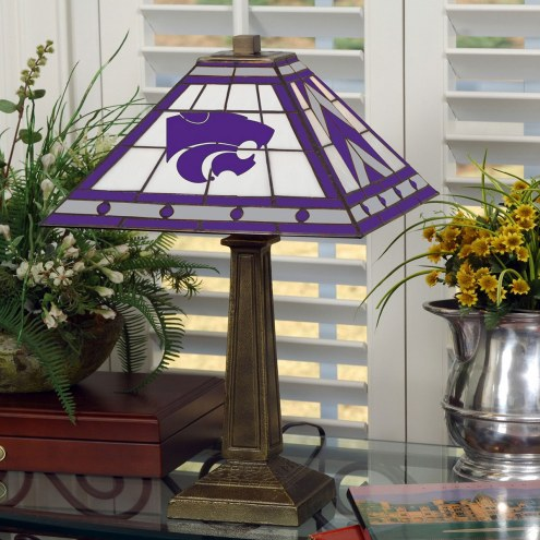 Kansas State Wildcats Stained Glass Mission Table Lamp