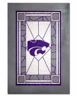 Kansas State Wildcats Stained Glass with Frame
