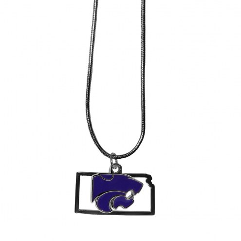 Kansas State Wildcats State Charm Necklace