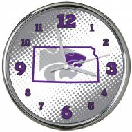 Kansas State Wildcats State of Mind Chrome Clock