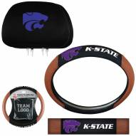 Kansas State Wildcats Steering Wheel & Headrest Cover Set