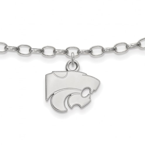 Kansas State Wildcats Sterling Silver Anklet