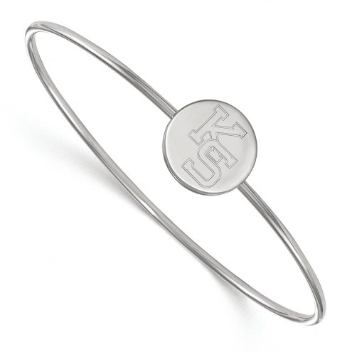 Kansas State Wildcats Sterling Silver Bangle Slip on Bracelet