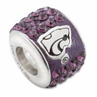 Kansas State Wildcats Sterling Silver Charm Bead