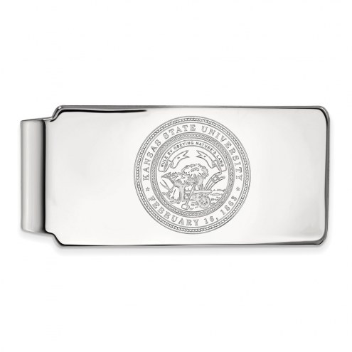Kansas State Wildcats Sterling Silver Crest Money Clip