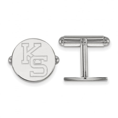 Kansas State Wildcats Sterling Silver Cuff Links