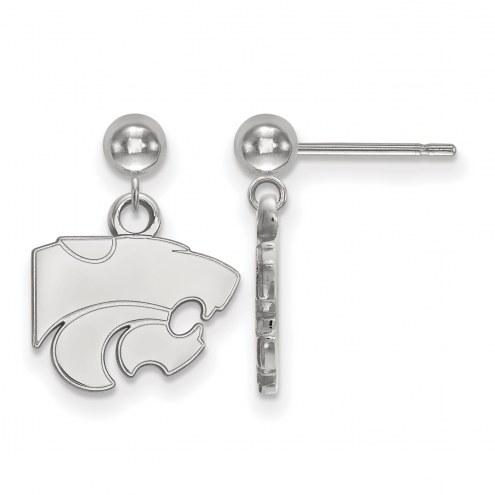 Kansas State Wildcats Sterling Silver Dangle Ball Earrings