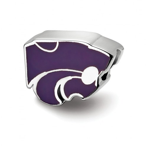 Kansas State Wildcats Sterling Silver Enameled Bead