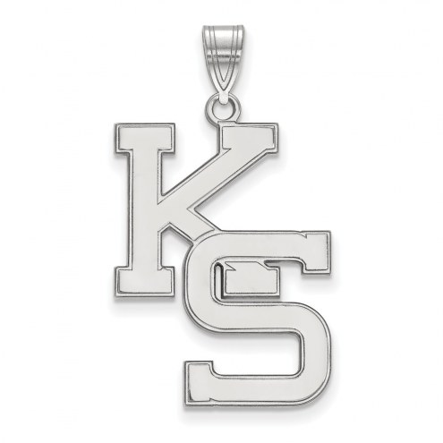 Kansas State Wildcats Sterling Silver Extra Large Pendant