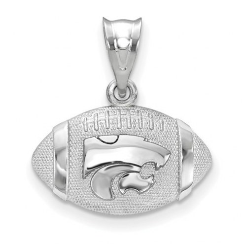 Kansas State Wildcats Sterling Silver Football with Logo Pendant