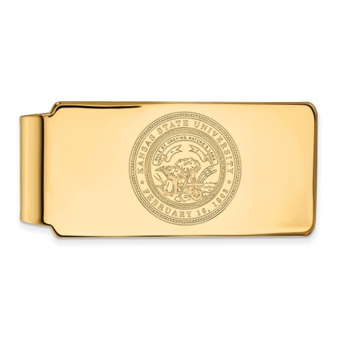 Kansas State Wildcats Sterling Silver Gold Plated Crest Money Clip