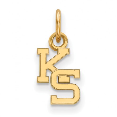 Kansas State Wildcats Sterling Silver Gold Plated Extra Small Pendant
