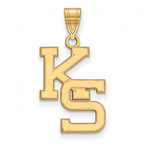 Kansas State Wildcats Sterling Silver Gold Plated Large Pendant