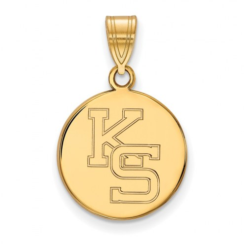 Kansas State Wildcats Sterling Silver Gold Plated Medium Pendant