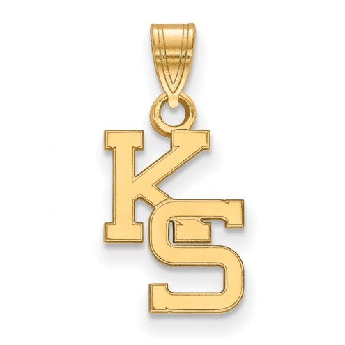 Kansas State Wildcats Sterling Silver Gold Plated Small Pendant