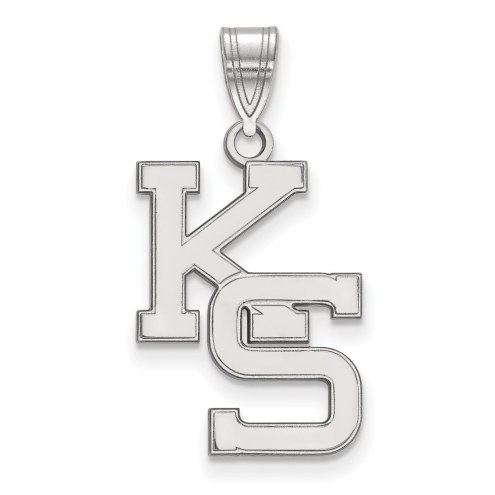 Kansas State Wildcats Sterling Silver Large Pendant