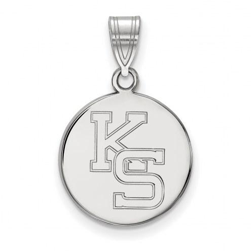 Kansas State Wildcats Sterling Silver Medium Pendant