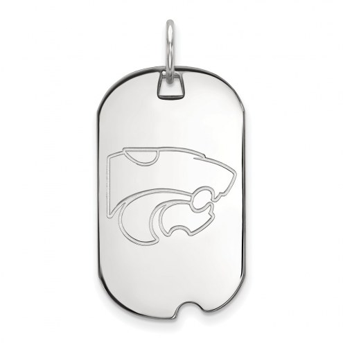 Kansas State Wildcats Sterling Silver Small Dog Tag