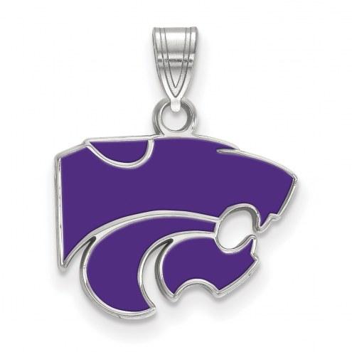 Kansas State Wildcats Sterling Silver Small Enamel Pendant