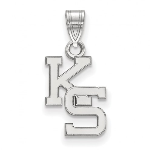 Kansas State Wildcats Sterling Silver Small Pendant