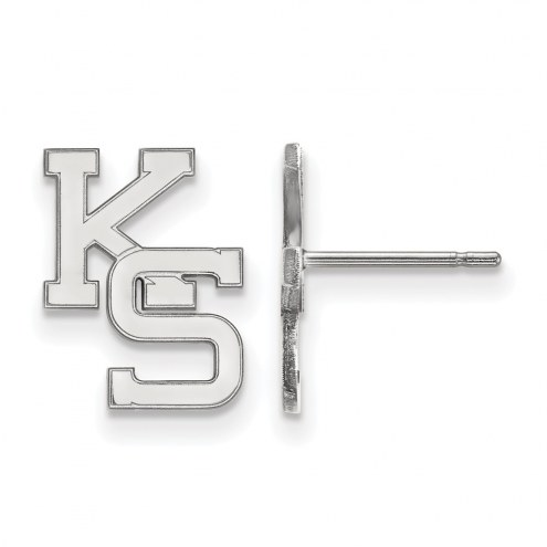 Kansas State Wildcats Sterling Silver Small Post Earrings
