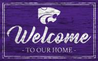 Kansas State Wildcats Team Color Welcome Sign
