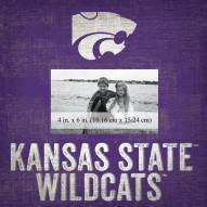 """Kansas State Wildcats Team Name 10"""" x 10"""" Picture Frame"""