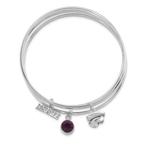 Kansas State Wildcats Triple Bangle Bracelet