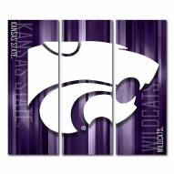 Kansas State Wildcats Triptych Rush Canvas Wall Art