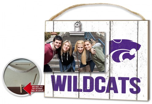 Kansas State Wildcats Weathered Logo Photo Frame