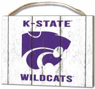 Kansas State Wildcats Weathered Logo Small Plaque