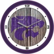 Kansas State Wildcats Weathered Wood Wall Clock