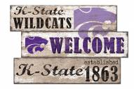 Kansas State Wildcats Welcome 3 Plank Sign