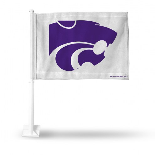 Kansas State Wildcats White Car Flag