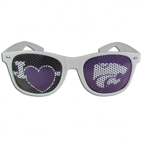 Kansas State Wildcats White I Heart Game Day Shades